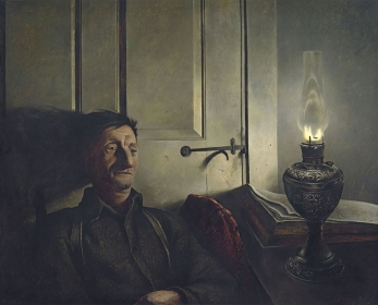 "<h5><em>Oil Lamp</em>, 1946 tempera on panel </h5><p>© 2016 Andrew Wyeth / Artists Rights Society (ARS), NY  <a href=""http://www.artres.com/C.aspx?VP3=ViewBox_VPage&VBID=2UN365UE6ROVA&IT=ZoomImageTemplate01_VForm&IID=2UNTWASACRUZ&PN=35&CT=Search&SF=0"" target=""_blank"">