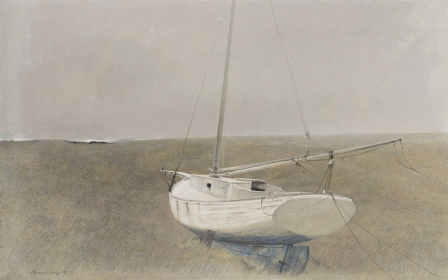 <h5><em>Below Dover</em>, 1950 tempera on panel, 10 x 16 in. Private Collection</h5><p>© 2016 Andrew Wyeth / Artists Rights Society (ARS), NY</p>