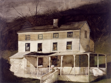 <h5><em>Demolished June, 1995</em>, 1995, watercolor on paper, 39.75 x 29.875 in. Private Collection</h5><p>© 2016 Andrew Wyeth / Artists Rights Society (ARS), NY</p>