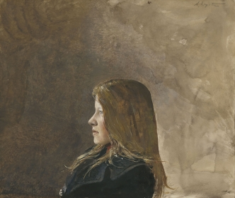 <h5><em>Miss Erickson</em>, 1970 drybrush on paper, 11.5 x 13.5 in. Private Collection</h5><p>© 2016 Andrew Wyeth / Artists Rights Society (ARS), NY</p>