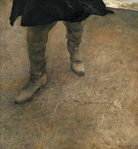 """<h5><em>Trodden Weed</em>, 1951 tempera on panel, 20 x 18.25 in. Private Collection</h5><p>© 2016 Andrew Wyeth / Artists Rights Society (ARS), NY  <a href=""""http://www.artres.com/C.aspx?VP3=ViewBox_VPage&VBID=2UN365UE68NPH&IT=ZoomImageTemplate01_VForm&IID=2UNTWASQGEPW&PN=26&CT=Search&SF=0"""" target=""""_blank"""">