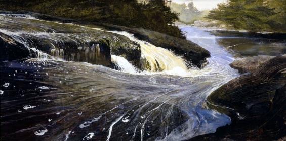 <h5><em>The Carry</em>, 2002 tempera on panel, 24 x 48 in. Private Collection</h5><p>© 2016 Andrew Wyeth / Artists Rights Society (ARS), NY</p>