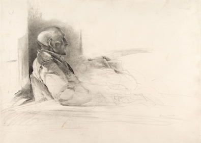 <h5><em>Tom and his Granddaughter</em>, 1959 pencil on paper, 16.625 x 23.125 in. Private Collection</h5><p>© 2016 Andrew Wyeth / Artists Rights Society (ARS), NY</p>