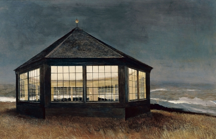 <h5><em>Two If By Sea</em>, 1995 tempera on panel, 31 x 48 in. Private Collection</h5><p>© 2016 Andrew Wyeth / Artists Rights Society (ARS), NY</p>