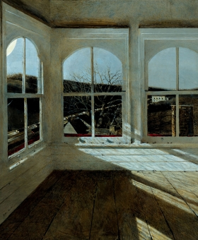 <h5><em>Renfield</em>, 1999 tempera on panel, 34.25 x 28.75 in. Private Collection</h5><p>© 2016 Andrew Wyeth / Artists Rights Society (ARS), NY</p>