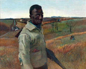 <h5><em>Black Hunter</em>, 1938 tempera on panel, 32 x 39.875 in. Private Collection</h5><p>© 2016 Andrew Wyeth / Artists Rights Society (ARS), NY </p>