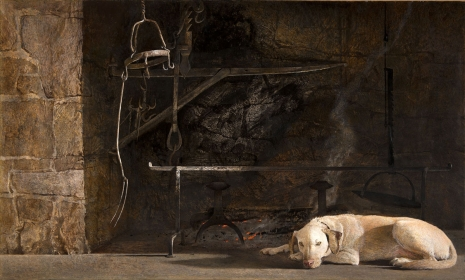 <h5><em>Ides of March</em>, 1974 tempera on panel, 24.5 x 41.5 in. Private Collection </h5><p>© 2016 Andrew Wyeth / Artists Rights Society (ARS), NY </p>
