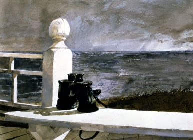 <h5><em>Binoculars</em>, 1981 watercolor on paper, 21.5 x 29.5 in. Private Collection</h5><p>© 2016 Andrew Wyeth / Artists Rights Society (ARS), NY </p>