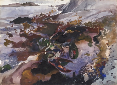 <h5><em>Lobster #04</em>, 1940 watercolor on paper, 21.5 x 29.375 in. Private Collection</h5><p>© 2016 Andrew Wyeth / Artists Rights Society (ARS), NY </p>