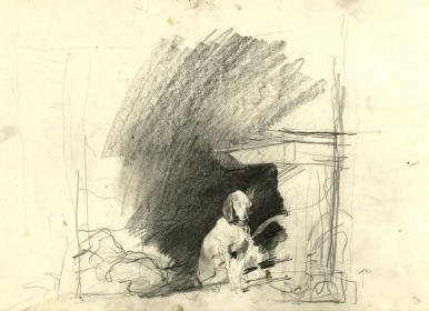 <h5><em>Raccoon Study</em>, 1958 pencil on paper, 11.875 x 18.75 in. Private Collection</h5><p>© 2016 Andrew Wyeth / Artists Rights Society (ARS), NY</p>