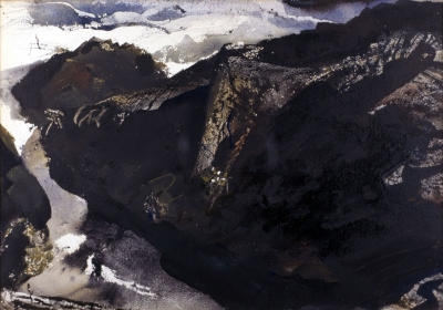 <h5><em>Roaring Spout</em>, 1953 watercolor on paper 13.875 x 19.72 in. Private Collection </h5><p>© 2016 Andrew Wyeth / Artists Rights Society (ARS), NY</p>