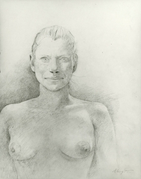 <h5><em>Pam</em>, 1980 pencil on paper, 14 x 11 in. Private Collection</h5><p>© 2016 Andrew Wyeth / Artists Rights Society (ARS), NY</p>