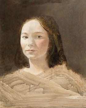 <h5><em>Dana Talley</em>, 1976 Tempera on panel, 19.5 x 15.5 in. Private Collection</h5><p>© 2018 Andrew Wyeth / Artists Rights Society (ARS), NY</p>