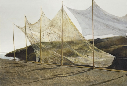<h5><em>Pentecost</em>, 1989 tempera on panel, 20.75 x 30.625 in. Private Collection</h5><p>© 2016 Andrew Wyeth / Artists Rights Society (ARS), NY</p>