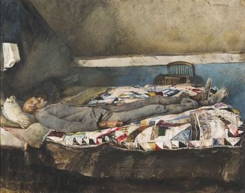 <h5><em>Garret Room</em>, 1962 drybrush on paper, 17.5 x 22.5 in. Private Collection</h5><p>© 2016 Andrew Wyeth / Artists Rights Society (ARS), NY</p>