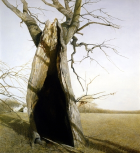 <h5><em>Dryad</em>, 2007 tempera on panel, 42.25 x 47.75 in. Private Collection</h5><p>© 2016 Andrew Wyeth / Artists Rights Society (ARS), NY </p>