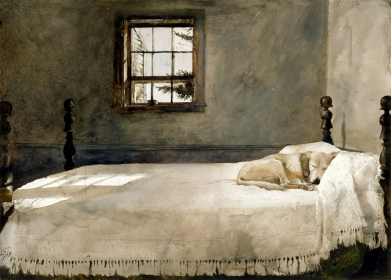 <h5><em>Master Bedroom</em>, 1965, watercolor on paper, 21.125 x 29.5 in. Private Collection</h5><p>© 2016 Andrew Wyeth / Artists Rights Society (ARS), NY </p>