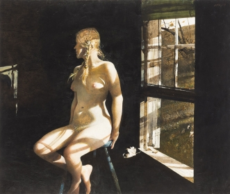 <h5><em>Lovers</em>, 1981 drybrush on paper, 22.5 x 28.5 in. Private Collection </h5><p>© 2016 Andrew Wyeth / Artists Rights Society (ARS), NY </p>