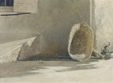 <h5><em>Monday Morning</em>, 1955 tempera on panel 12 x 16.375 in. Private Collection</h5><p>© 2016 Andrew Wyeth / Artists Rights Society (ARS), NY </p>