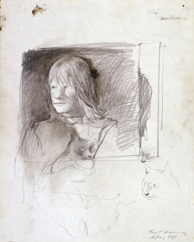 <h5><em>Siri Erickson – first drawing</em>, 1968 pencil on paper, 13.75 x 11 in. Private Collection</h5><p>© 2016 Andrew Wyeth / Artists Rights Society (ARS), NY</p>