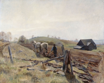 <h5><em>Spring Landscape at Kuerners</em>, 1933 oil on canvas, 32 x 40 in. Private Collection</h5><p>© 2016 Andrew Wyeth / Artists Rights Society (ARS), NY</p>