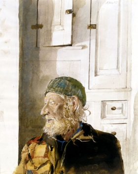 <h5><em>Weather beaten</em>, 1987 watercolor on paper 13.75 x 11 in. Private Collection</h5><p>© 2016 Andrew Wyeth / Artists Rights Society (ARS), NY</p>