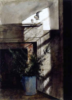 <h5><em>Bird in the House</em>, 1979 watercolor on paper, 29.5 x 21.5 in. Private Collection</h5><p>© 2016 Andrew Wyeth / Artists Rights Society (ARS), NY</p>