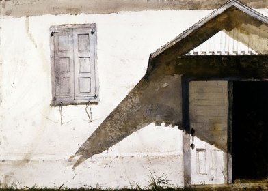 <h5><em>Shuttered</em>, 1980 watercolor 21.5 x 30 in. Private Collection</h5><p>© 2016 Andrew Wyeth / Artists Rights Society (ARS), NY</p>